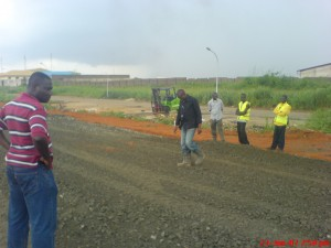 ED FIAT inspecting site at FAAN Site
